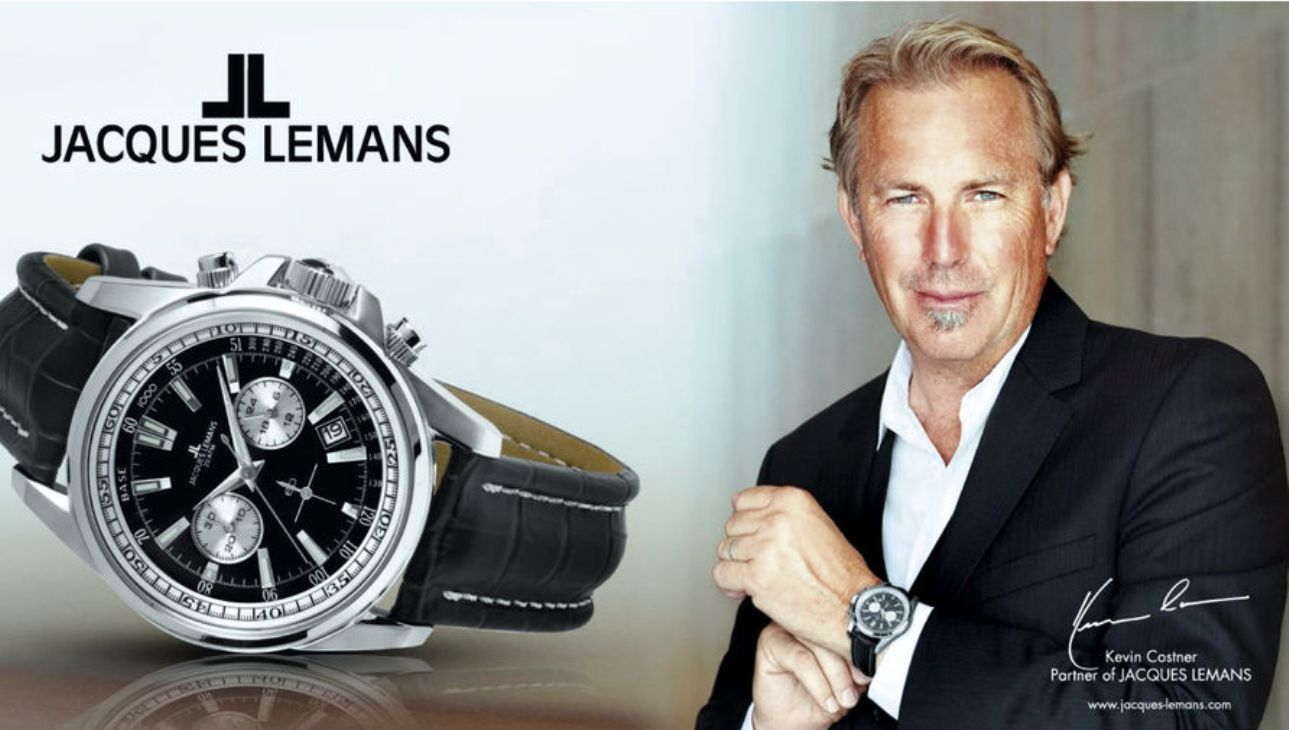 Kevin Costner Partner of Jacques Lemans